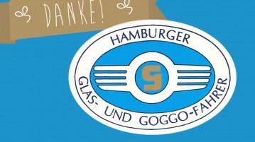 Hamburger Glas- und Goggofahrer unterstützen Entschleunigung