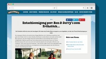 Frohlein im Ben & Jerrys Blog